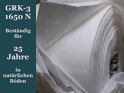 breite 4 m grk 3 1650 n stra enbauvlies gartenvlies baustellenvlies teichvlies ebay. Black Bedroom Furniture Sets. Home Design Ideas