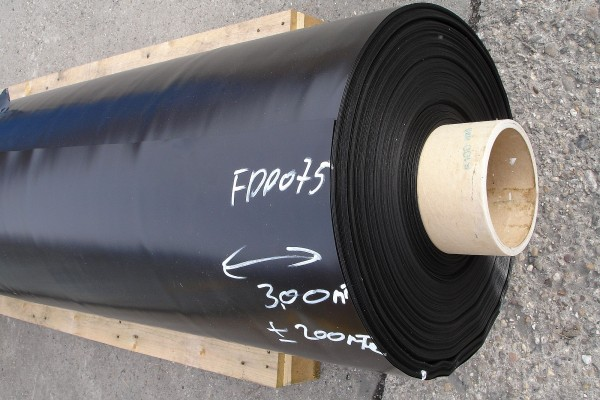 60 x 20 m FPP Abdichtungsbahn 0,75 mm schwarz