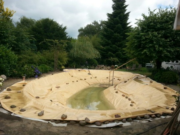 1,5 mm Teichfolie elastplan sandfarben