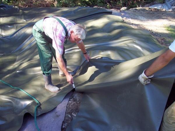 1 mm Teichfolie elastplan olivgrün