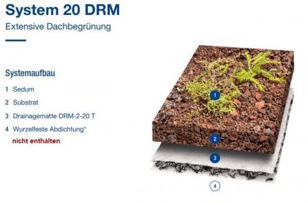 Gründach Paket DRM 20 Big Bag (mit Sprossen)